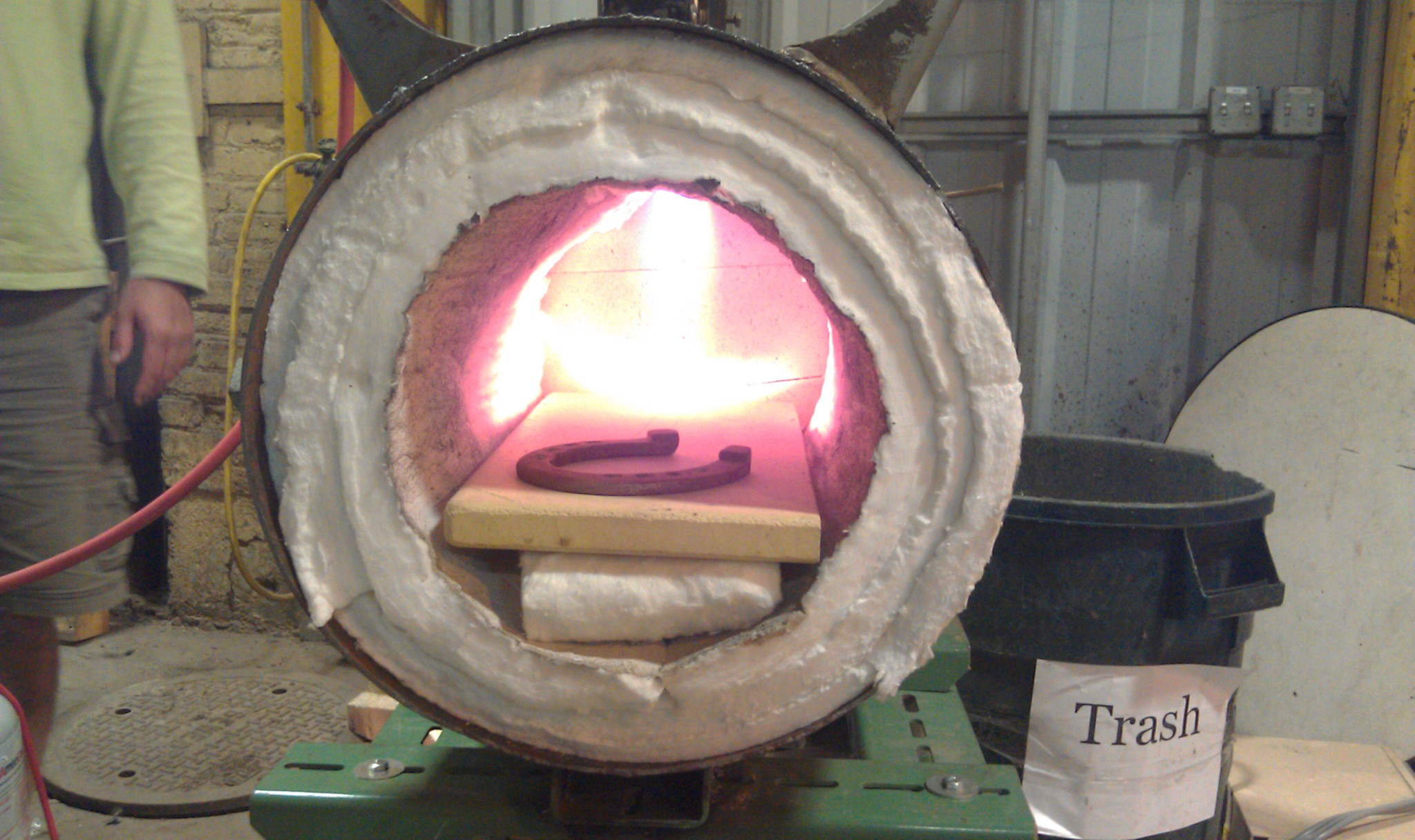 Forge with a horseshoe