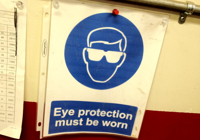 Eye protection must be warn