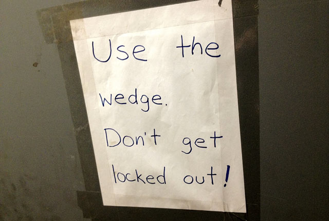 Use the wedge!