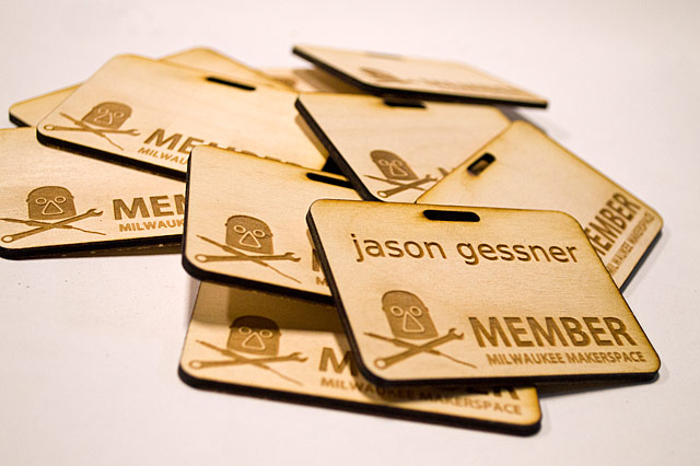 Laser-cut Name Badges