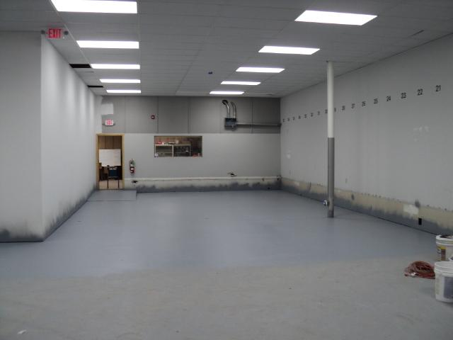 This is where the bulk of the machine shop will be.
