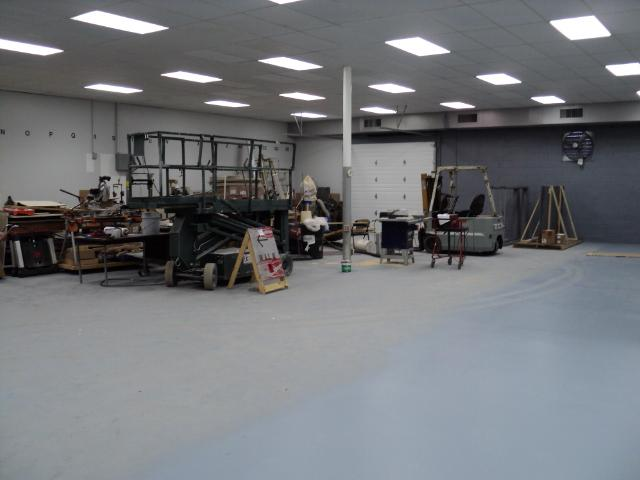 This is where our car area and the machine shop will be.