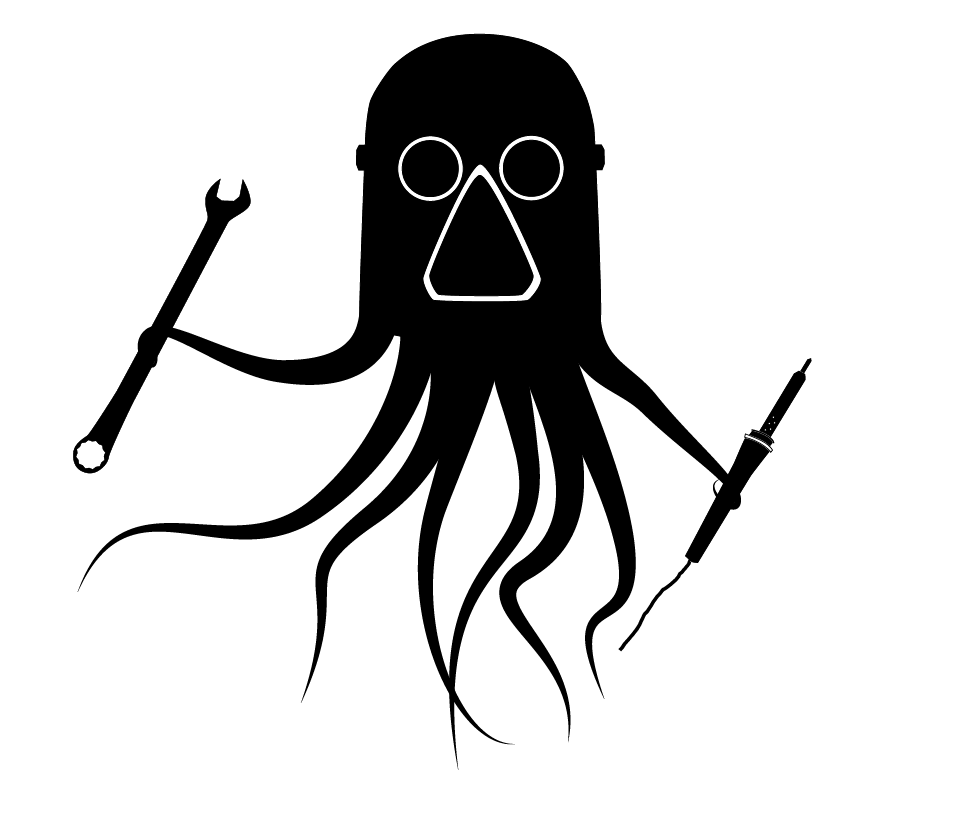 The Makerspace Logo done with tentacles