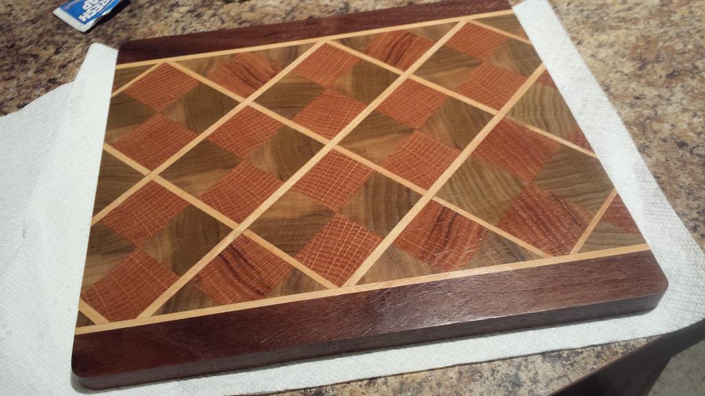 Argyle Pattern Cutting Board Milwaukee Makerspace