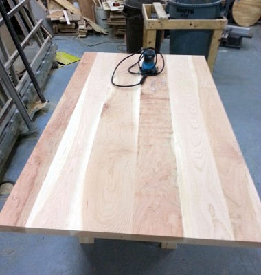 10 - Rough sanding on belt sander then finished by hand