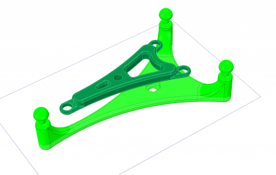 CAD drawing of shock mount
