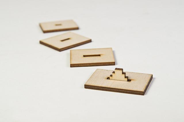 Laser-Cut Pegs