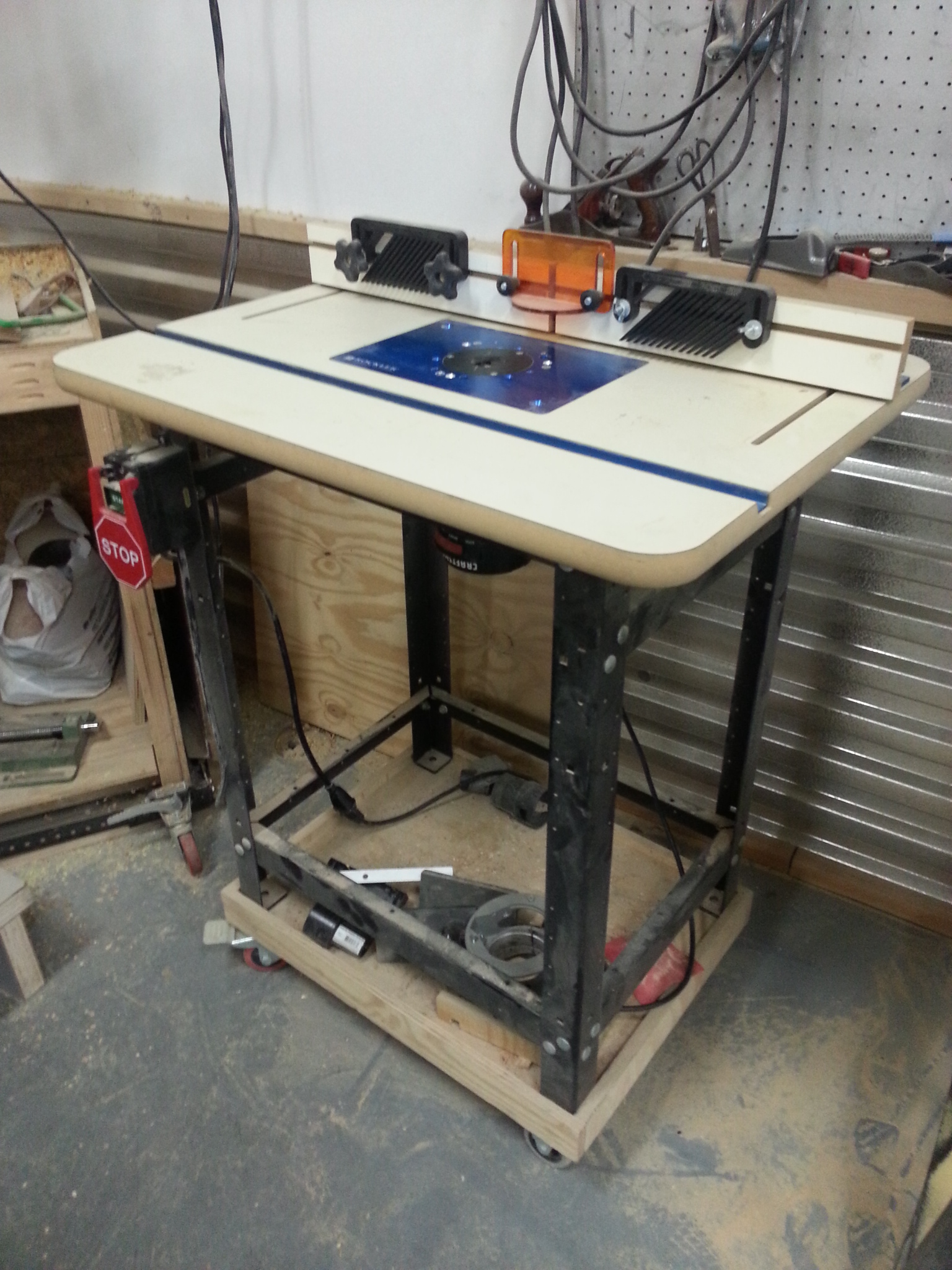 Our woodshop has a router table milwaukee makerspace for Wood router and table