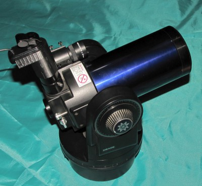 Telescope with WebCam mounted.