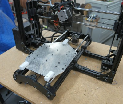 Modified undercarriage mounted on the printer